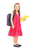 School girl holding notebook Royalty Free Stock Photo