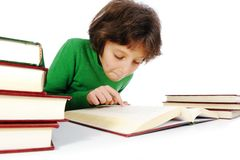 School girl learning Royalty Free Stock Image