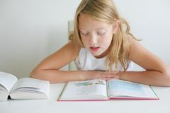 School girl learning royalty free stock images