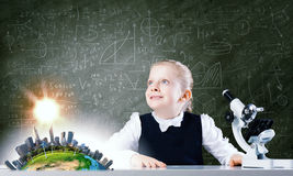 School girl at lesson Royalty Free Stock Images