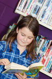 School girl at the library Royalty Free Stock Photo
