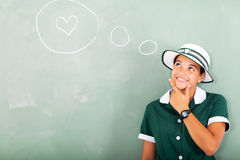 School girl love Royalty Free Stock Photos
