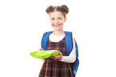 School girl with lunchbox Stock Photos