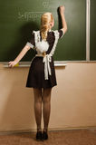 School girl on math classes Stock Photo