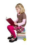 School Girl Reading a Book Royalty Free Stock Photo