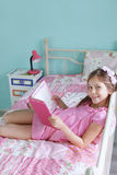 School girl reading Royalty Free Stock Image