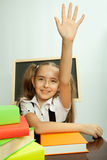 School girl ready to answer for teacher question Royalty Free Stock Photo