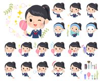 School girl Sailor suit_beauty Stock Images