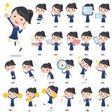 School girl Sailor suit 2. Set of various poses of school girl Sailor suit 2 Royalty Free Stock Image