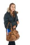 School girl with school baag Stock Photo