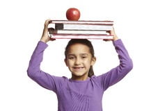 School girl with school books Stock Images