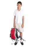 School Girl In School Uniform And Backpack III Stock Photography