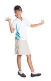 School Girl In School Uniform I Stock Photo