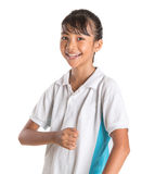 School Girl In School Uniform IV Royalty Free Stock Photography