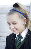 School girl in school uniform Royalty Free Stock Image