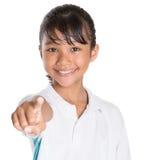 School Girl In School Uniform V Royalty Free Stock Image