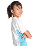 School Girl In School Uniform VI Royalty Free Stock Photo