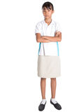 School Girl In School Uniform VII Royalty Free Stock Image