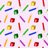 School Girl Seamless Pattern Royalty Free Stock Photos