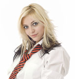 School girl or secretary looking at you Stock Images