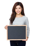 School girl show with chalkboard Royalty Free Stock Image