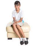 School Girl Sitting On Couch V Royalty Free Stock Photo