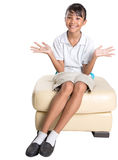 School Girl Sitting On Couch VII Royalty Free Stock Images