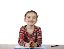 School girl smiling into camera Stock Photography