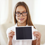School girl with tablet pc Royalty Free Stock Photo