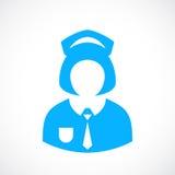 School girl uniform icon Stock Photo