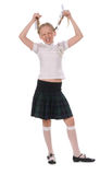 School girl on white background Stock Images
