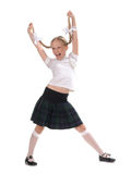 School girl on white background Stock Image