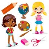 School Girls vector illustration