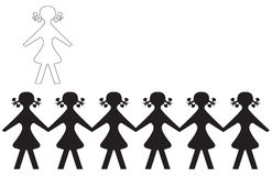 School Girls. Children are meeting in shadow Stock Photos