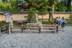 Japanese Schoolgirls. School Girls At The Golden Pavilion At Kyoto Japan 2015 stock images
