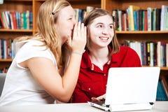 School Girls Whispering stock image