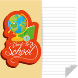 School Globe, Book, Compass And Magnifying Glass Royalty Free Stock Image
