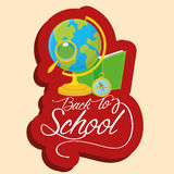 School Globe, Book, Compass And Magnifying Glass Stock Photography