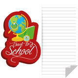 School Globe, Book, Compass And Magnifying Glass Royalty Free Stock Photo