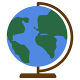 School Globe, earth model icon, vector illustration Stock Images
