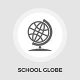 School globe flat icon Stock Photo