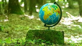 The school globe stock video footage