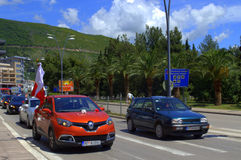 School Graduates on Budva street,Montenegro Royalty Free Stock Photo