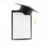 School graduation blank Royalty Free Stock Photos