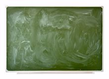 School green blackboard Stock Image