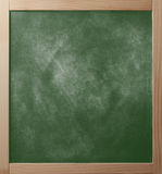 School greenboard in wooden frame royalty free stock photos