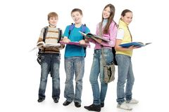 School guys Royalty Free Stock Images