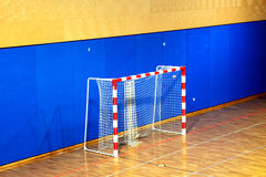School gym with goal Stock Image
