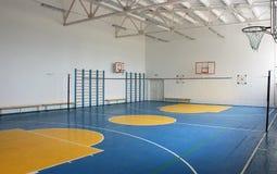 School gym indoor. Basketball court, school gym indoor Stock Photos