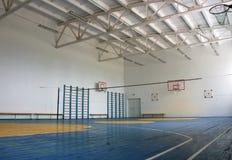 School gym indoor. Basketball court, school gym indoor Royalty Free Stock Image